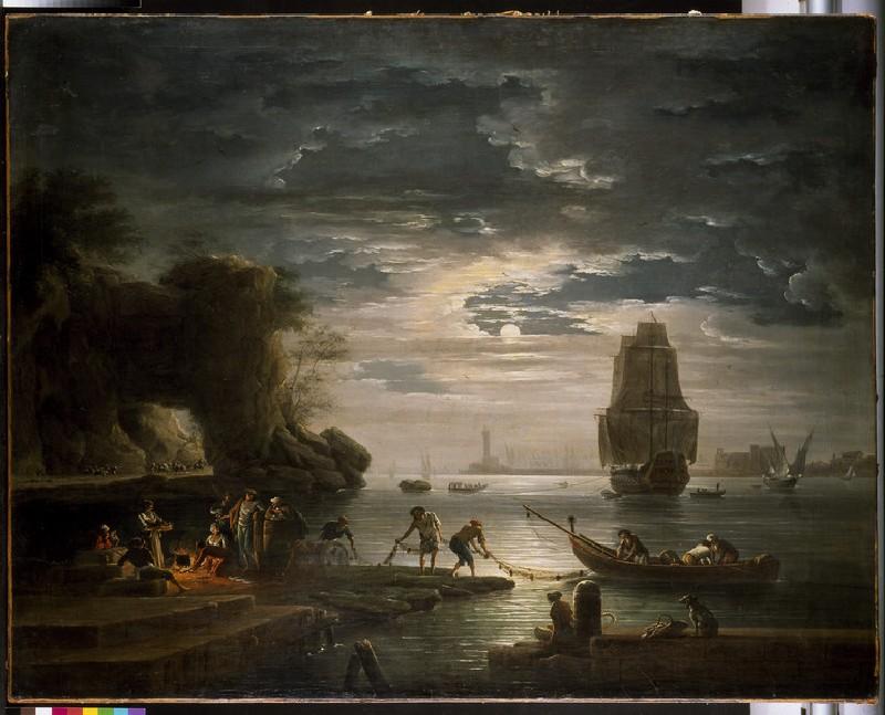 Coastal Scene (La Nuit) (WA1967.60.1)