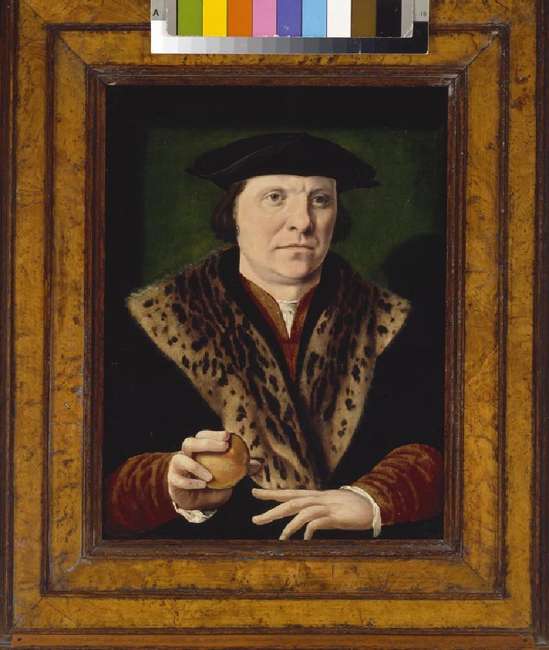 Portrait of a Man holding a Peach (WA1968.137)