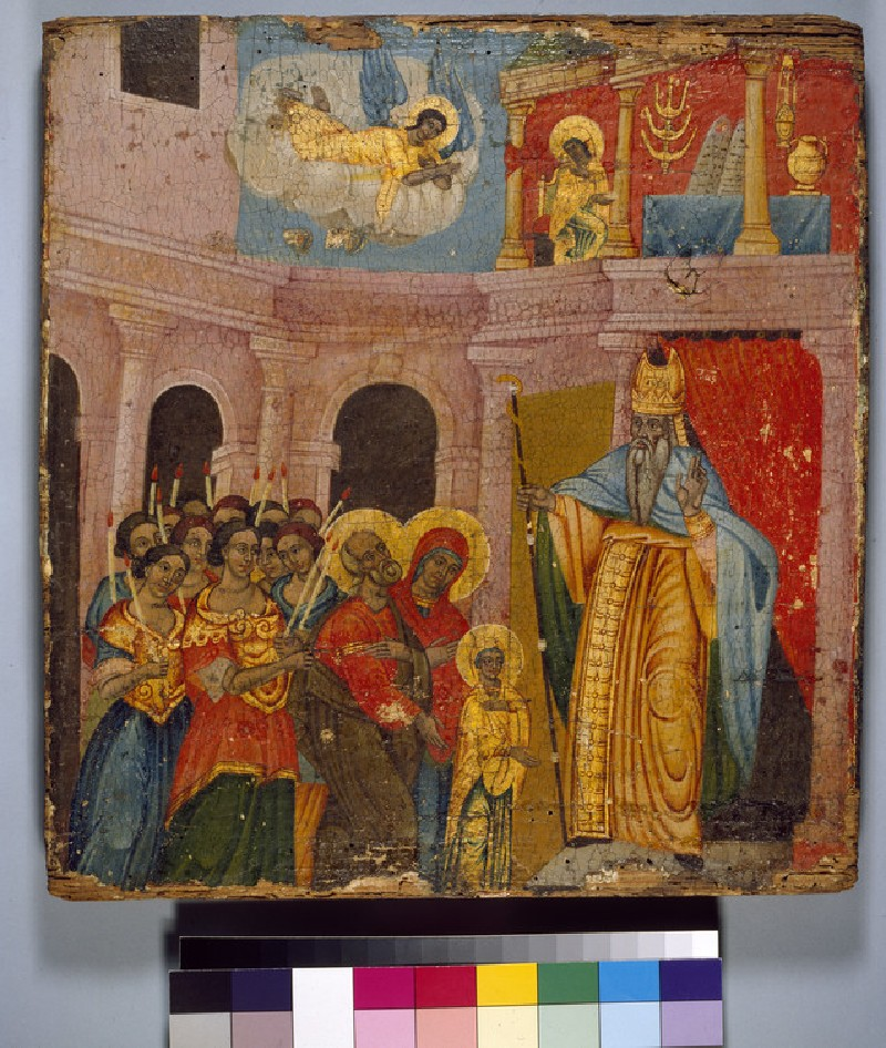Icon of The Presentation of the Virgin in the Temple (WA1968.28)