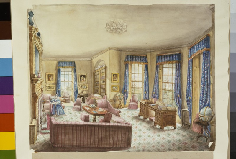 Drawing Room at Cockenache, 1842