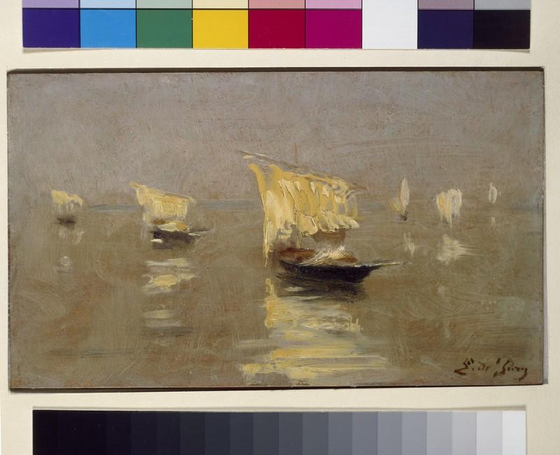 Boats in the Lagoon at Venice (WA1969.21)