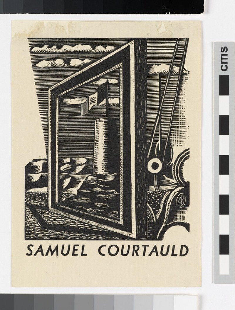 Bookplate for Samuel Courtauld (WA1971.12)