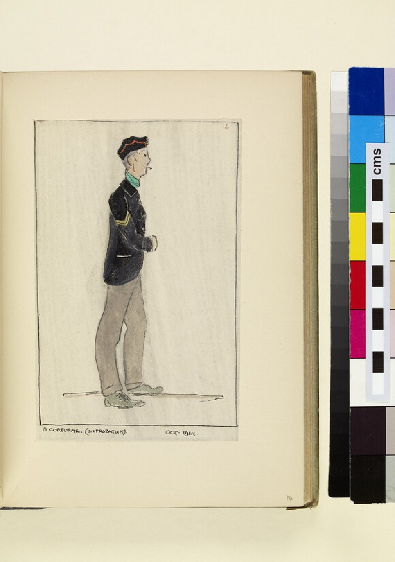 The Costumes and Uniforms of the British Army, 1914-1915: A Corporal (On Probation), October 1914