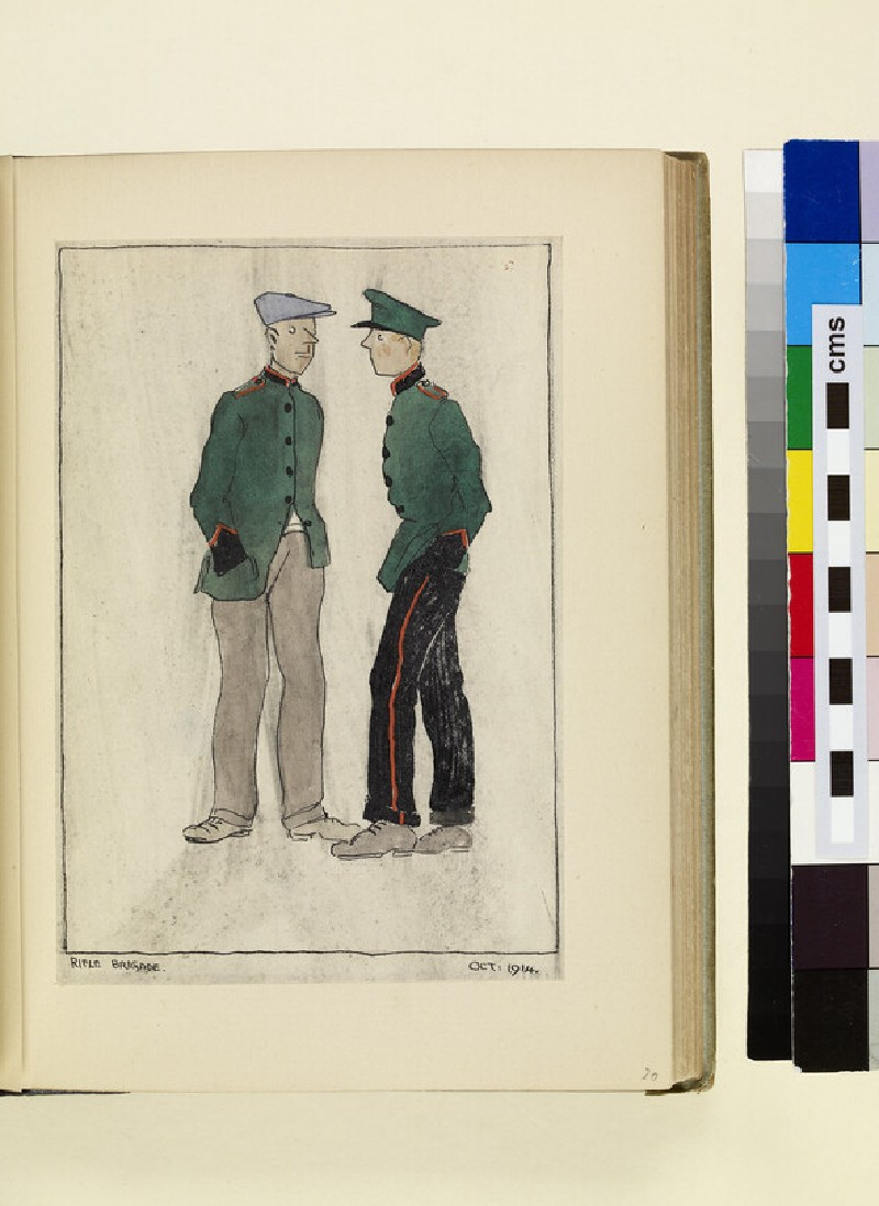 The Costumes and Uniforms of the British Army, 1914-1915: Rifle Brigade, October 1914