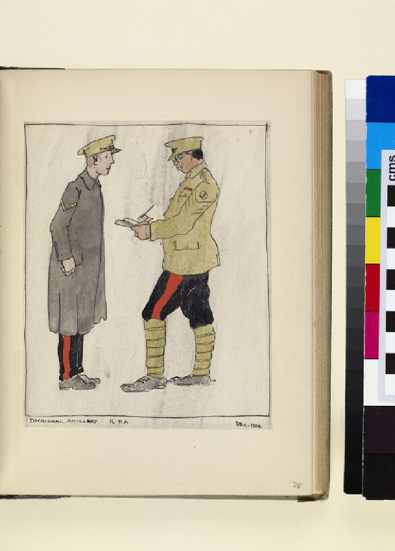 The Costumes and Uniforms of the British Army, 1914-1915: Divisional Artillery, R.F.A., December 1914 (WA1975.101.28)