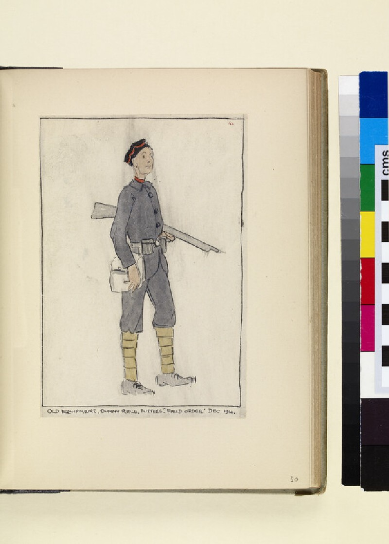 The Costumes and Uniforms of the British Army, 1914-1915: Old Equipment, December 1914 (WA1975.101.30)