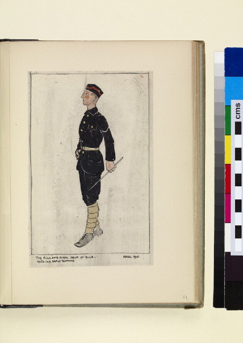 The Costumes and Uniforms of the British Army, 1914-1915: The full and final issue of 'Blue' (WA1975.101.42)