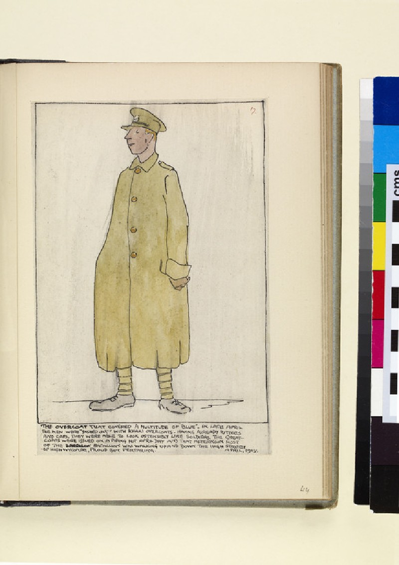 The Costumes and Uniforms of the British Army, 1914-1915: The Overcoat that covered a multitude of 'Blue' - (WA1975.101.44)