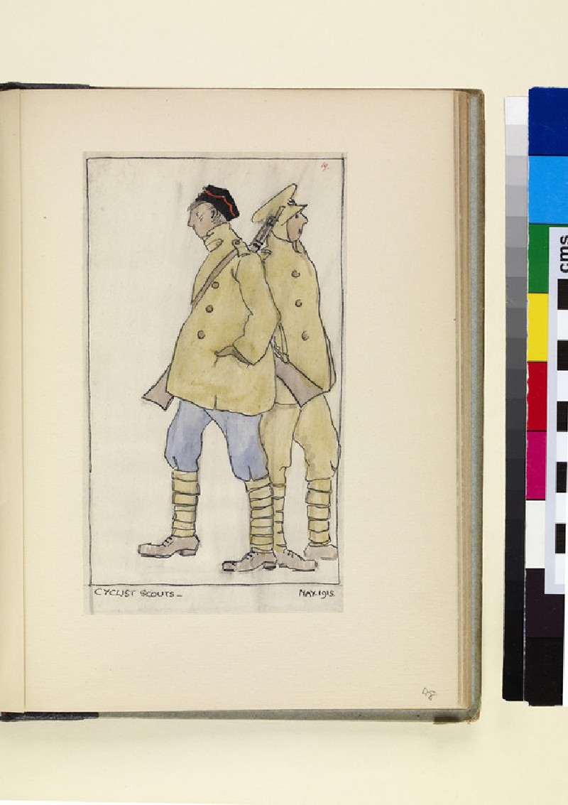The Costumes and Uniforms of the British Army, 1914-1915: Cyclist Scouts, May 1915 (WA1975.101.48)