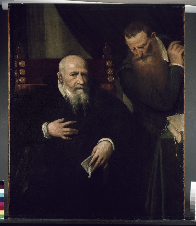 Portrait of a Man and his Secretary (WA1975.155)