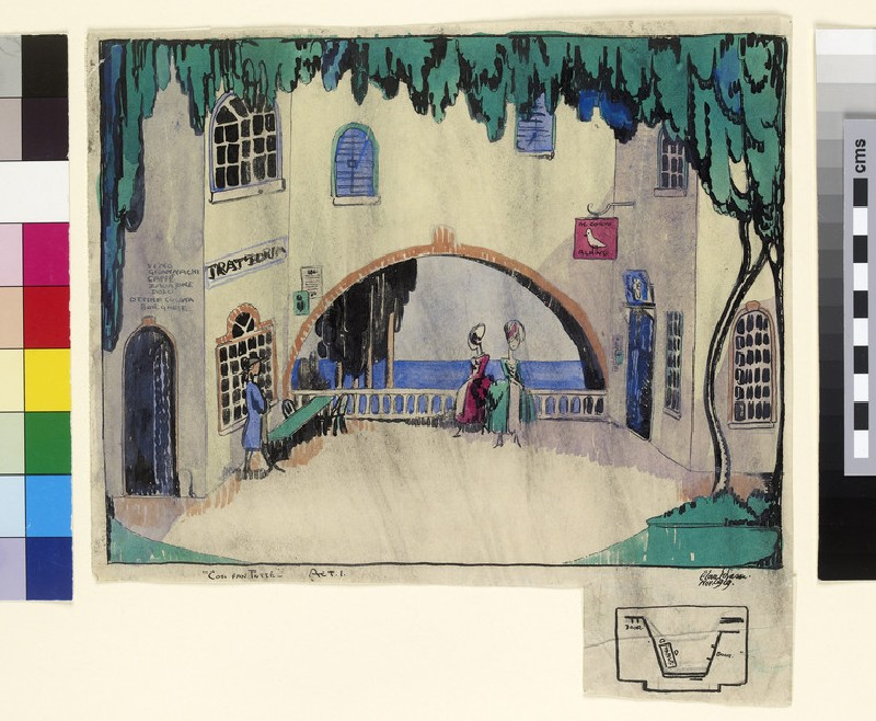 Design for Act I of Mozart's 'Cosi Fan Tutte'