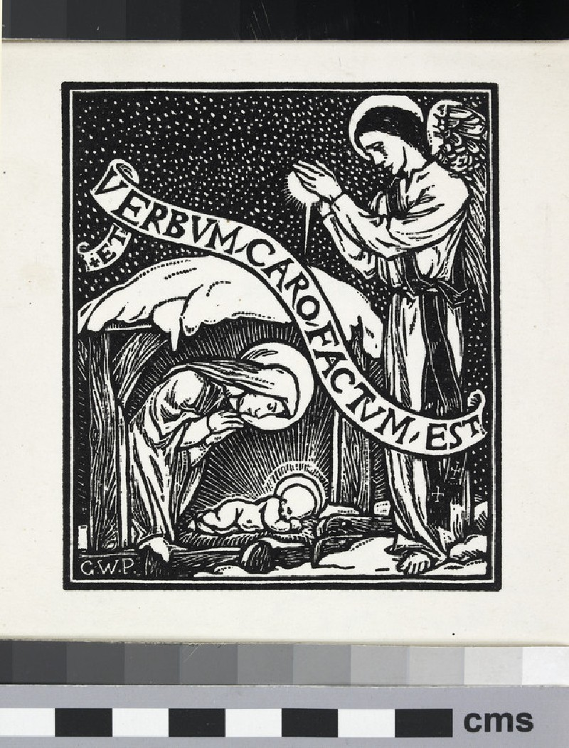 Christmas card with inscription of Et Verbum Caro Factum Est (WA1976.107)