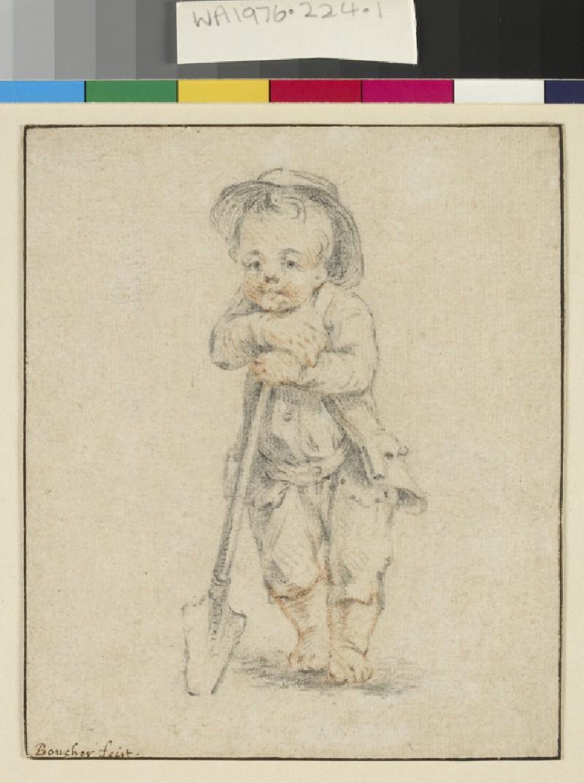 A boy leaning on a spade (WA1976.224.1)
