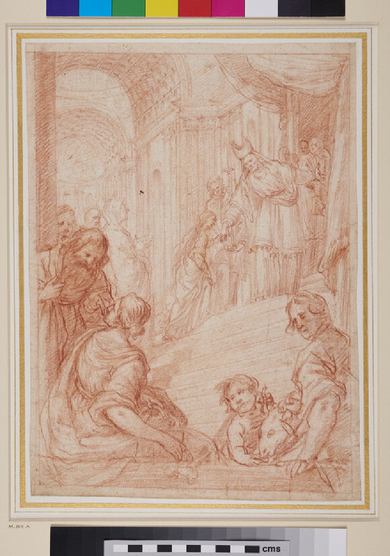 Recto: The Presentation of the Virgin in the Temple