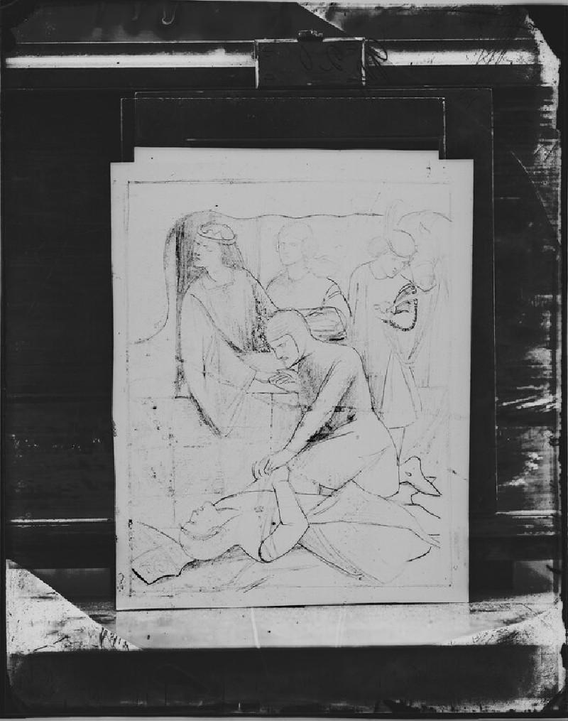 Glass plate negative of 'The Woeful Victory' (WA1977.353.18)