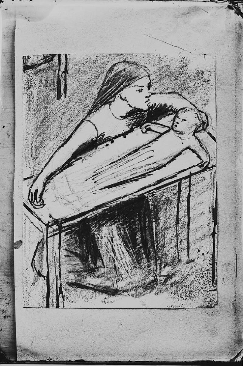 Glass plate negative of 'Study for the Nativity' (WA1977.353.28)