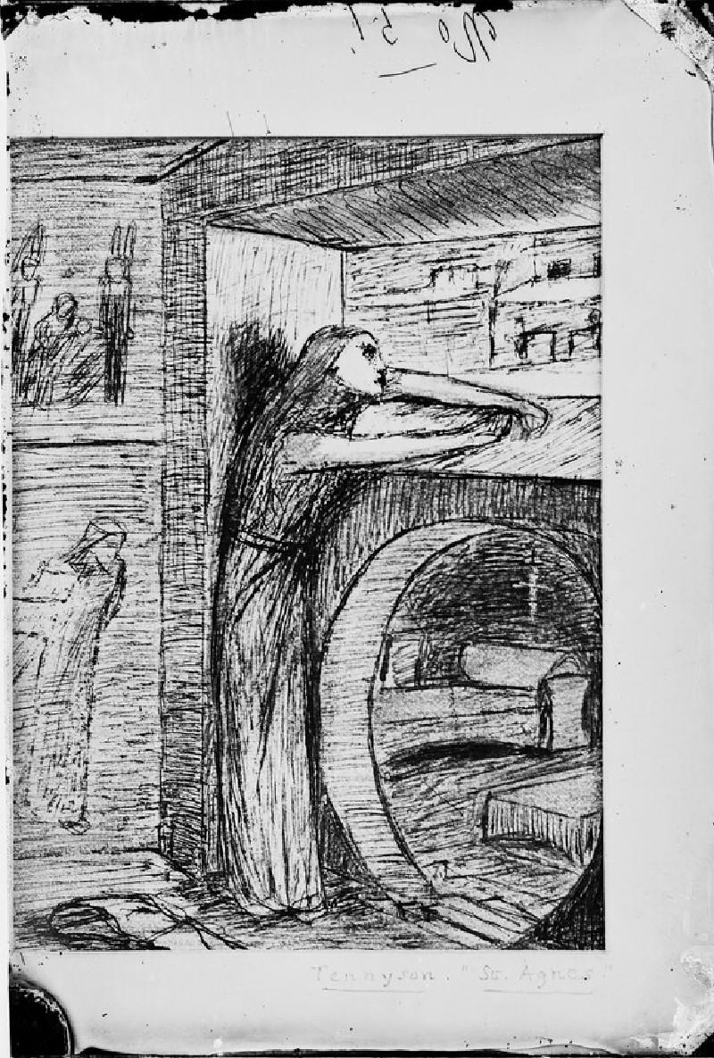 Glass plate negative of 'St Agnes' Eve' (WA1977.353.33)