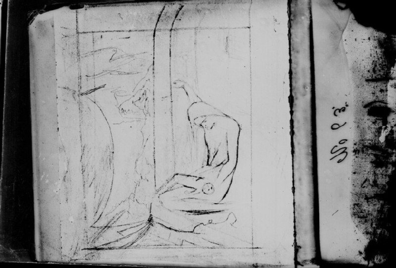 Glass plate negative of 'Study for The Maid of Lochroyan' (WA1977.353.54)