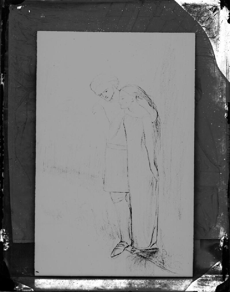 Glass plate negative of 'La Belle Dame Sans Merci' (WA1977.353.7)