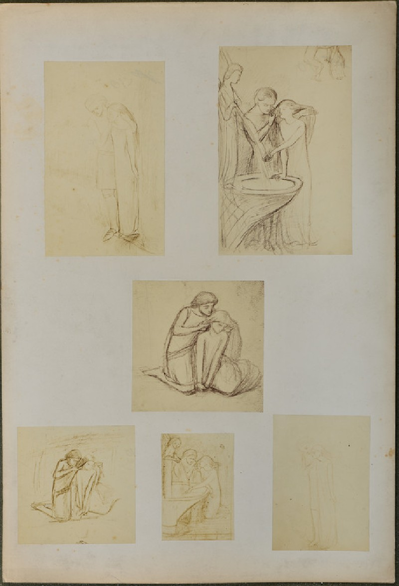 Studies for 'La Belle Dame Sans Merci' (WA1977.355.11)