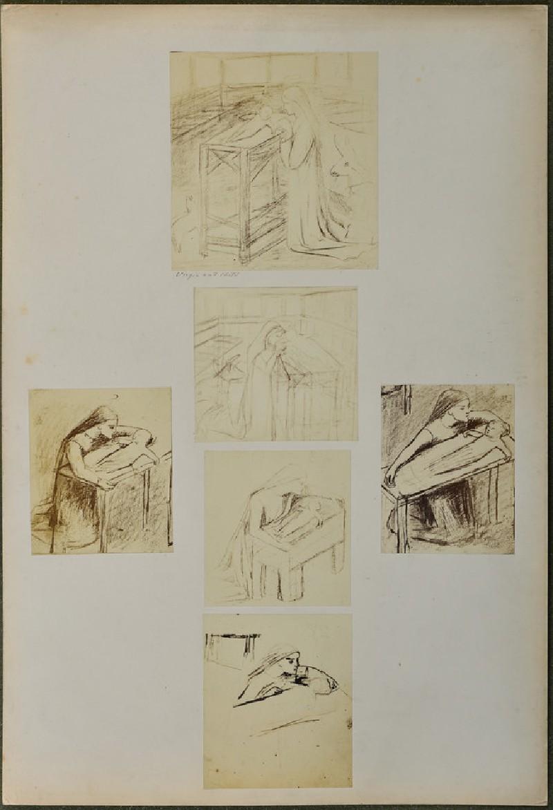 Studies for 'The Nativity' (WA1977.355.13)