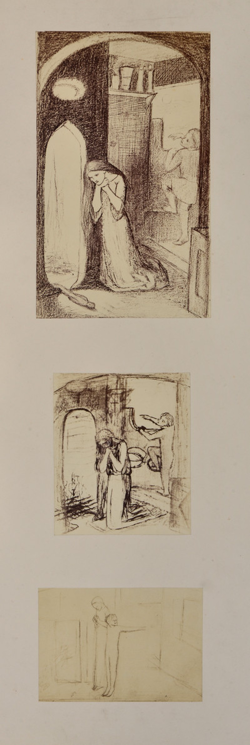 Three studies for 'Sister Helen'