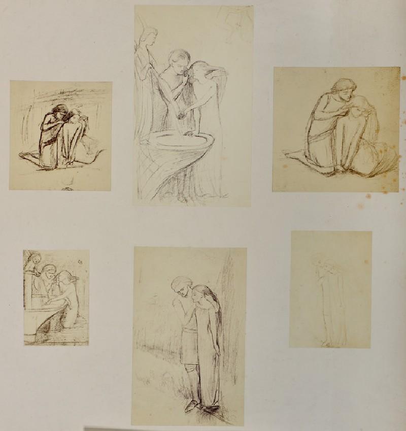 Studies for 'La Belle Dame Sans Merci' (WA1977.355.19)