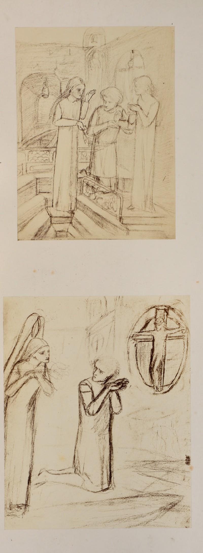 Two studies for 'Sir Galahad'