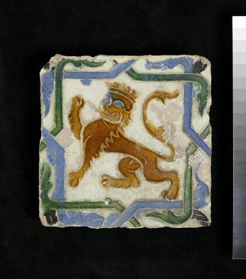 Arista tile with a lion (WA1978.161)