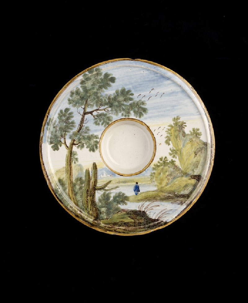 Saucer with a landscape (WA1978.175)