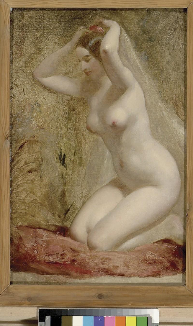 Nude Woman kneeling