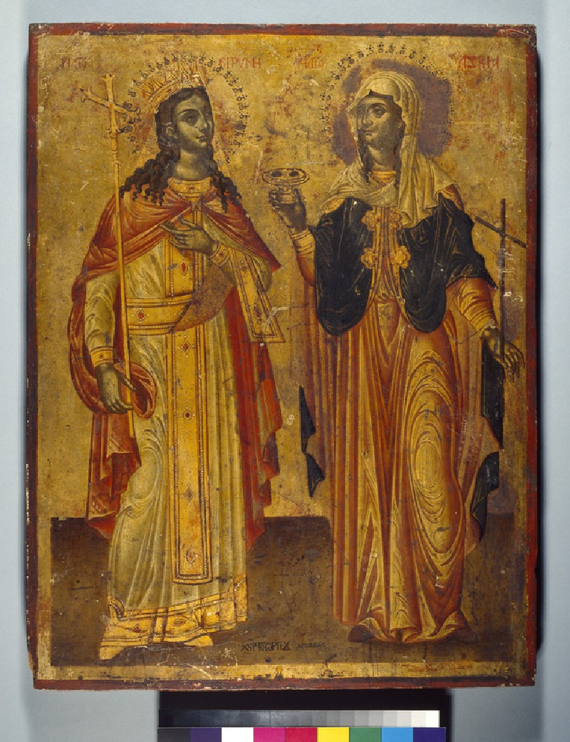 Icon of Sts Irene and Lucy (WA1978.37)