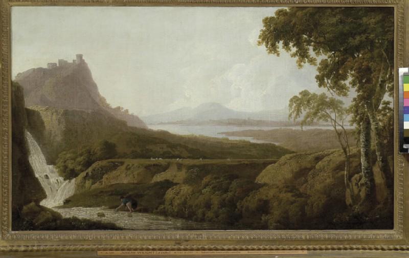 Italianate Lake Scene with Waterfall (WA1979.51)
