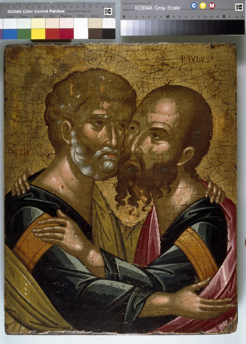 Icon of The Embrace of the Apostles Peter and Paul (WA1982.192)