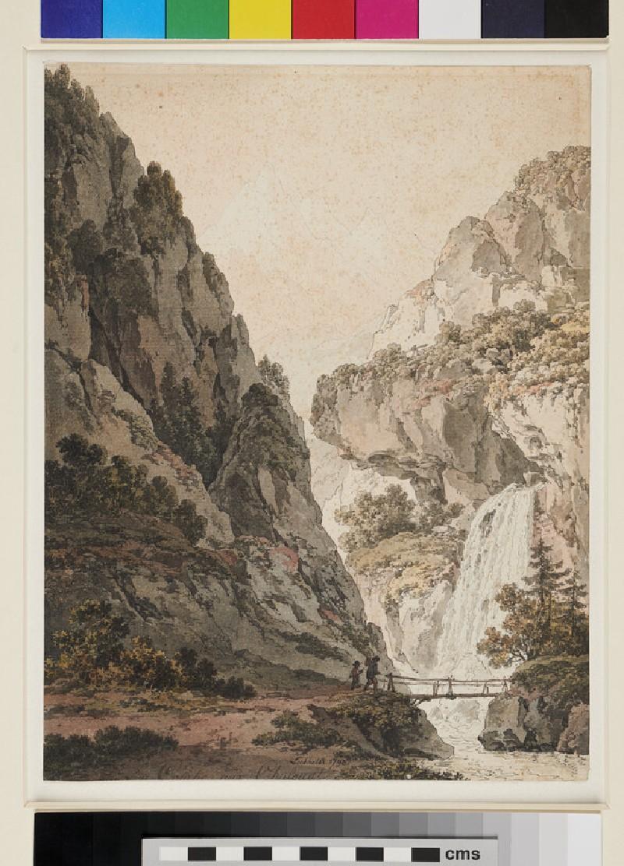 Alpine Landscape: La Comte aux Chalovats (WA1982.278, recto)
