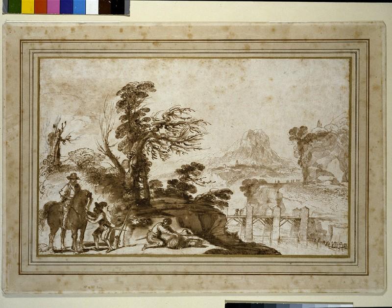 Landscape with a Horseman and a Bridge