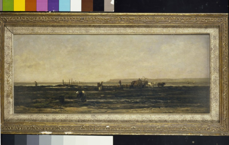 Mussel-gatherers at Villerville