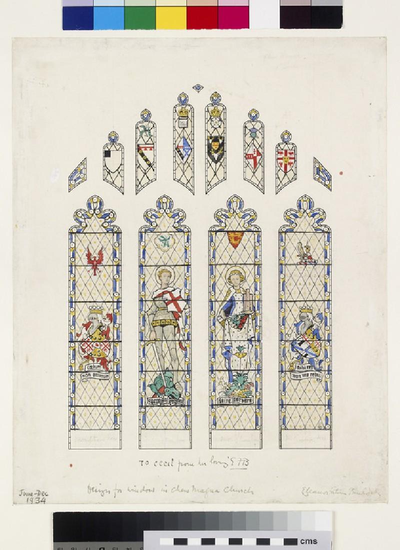 Design for a Window in Chew Magna Church