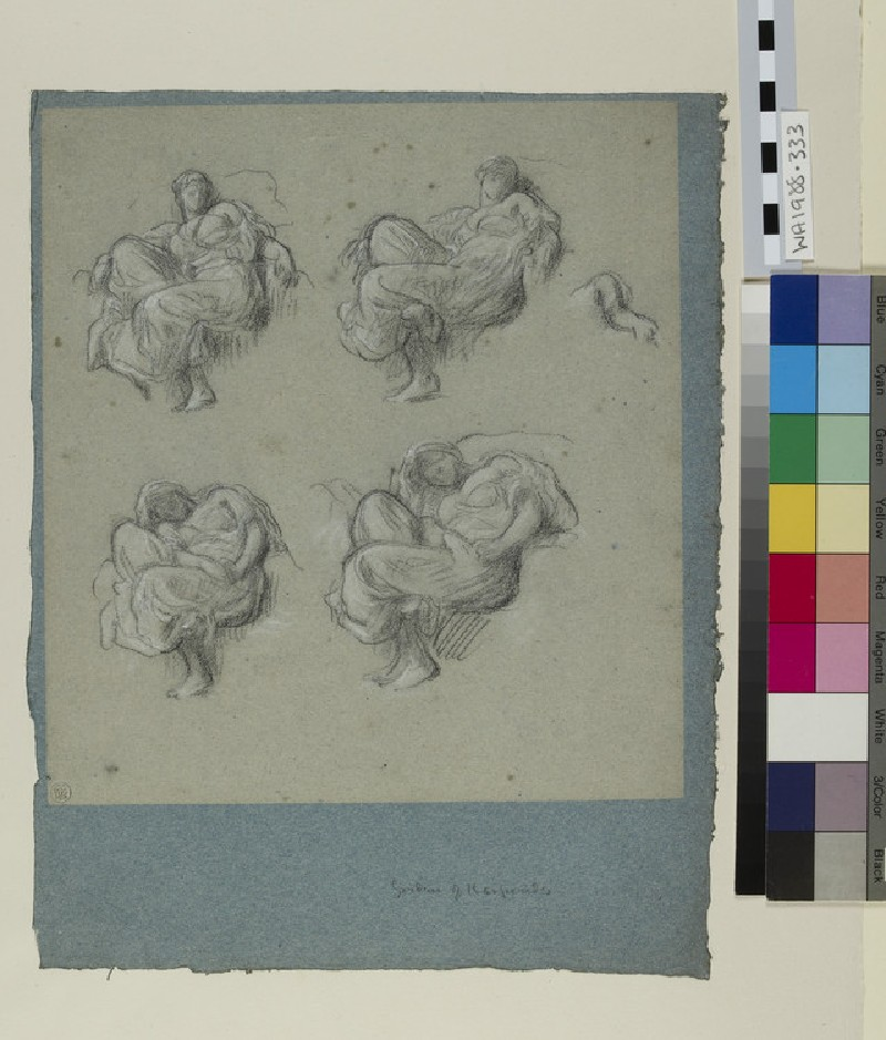 Four studies for the 'Garden of the Hesperides' (WA1988.333)