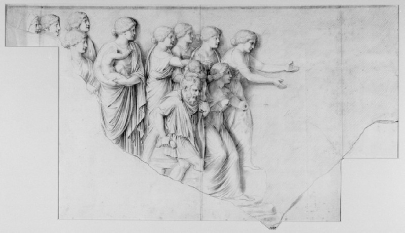 Study of a Fragment of Relief Sculpture (WA1990.128)