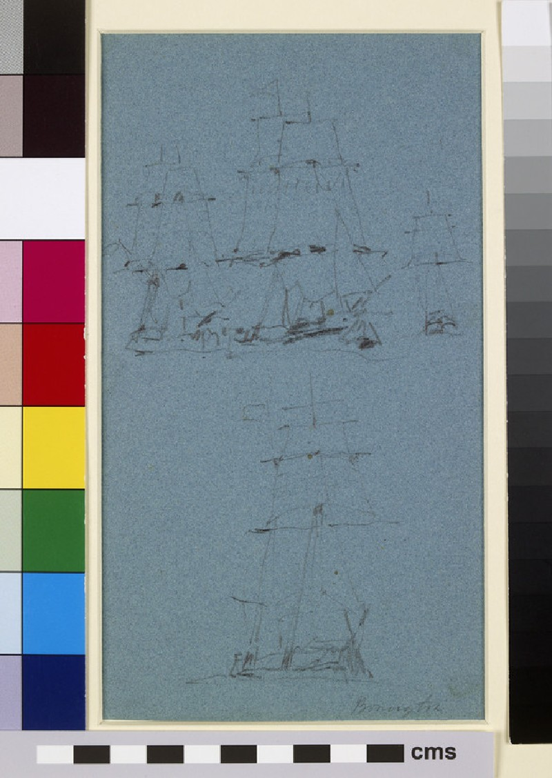 A Study of Ships in Sail (WA1990.7)