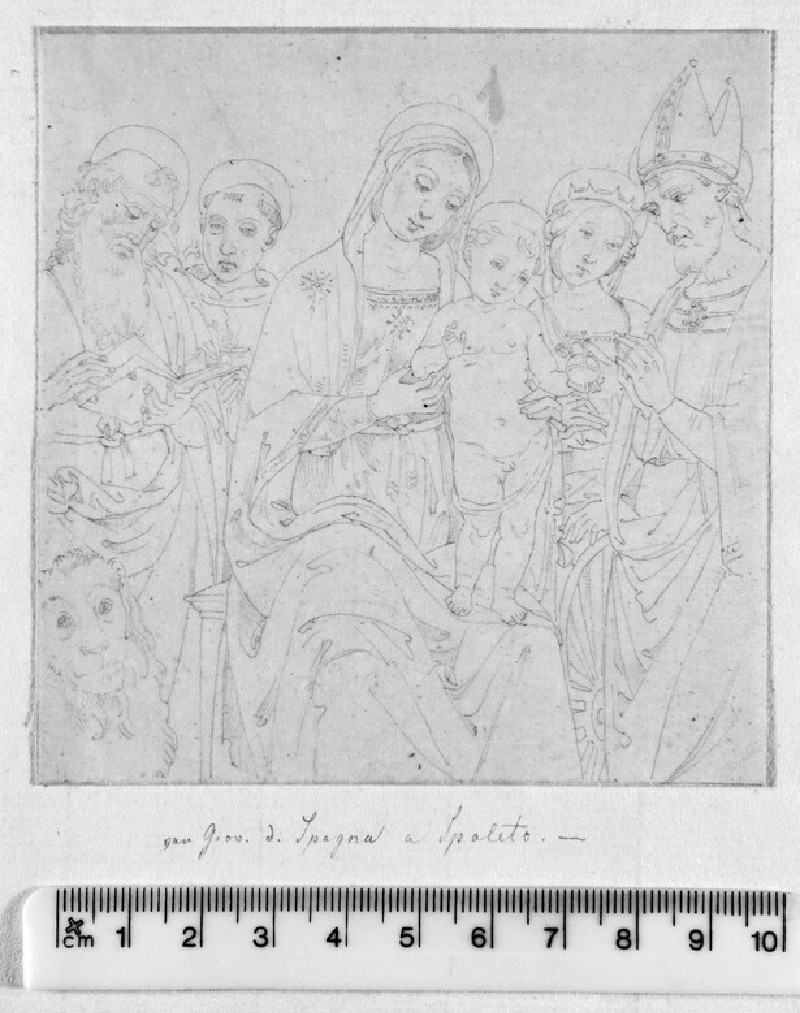 Study after Lo Spagna's Altarpiece, 'The Virgin and Child with Saints' in the Pinacoteca in Spoleto (WA1991.225)