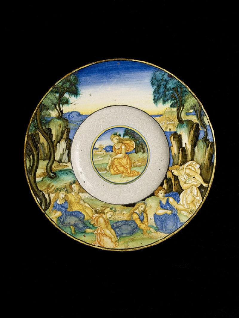 Plate, perhaps The Companions of Proserpina (WA1993.12)