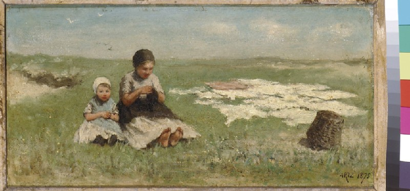 Two Girls on the Dunes, bleaching