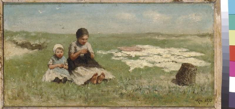 Two Girls on the Dunes, bleaching (WA1993.416)
