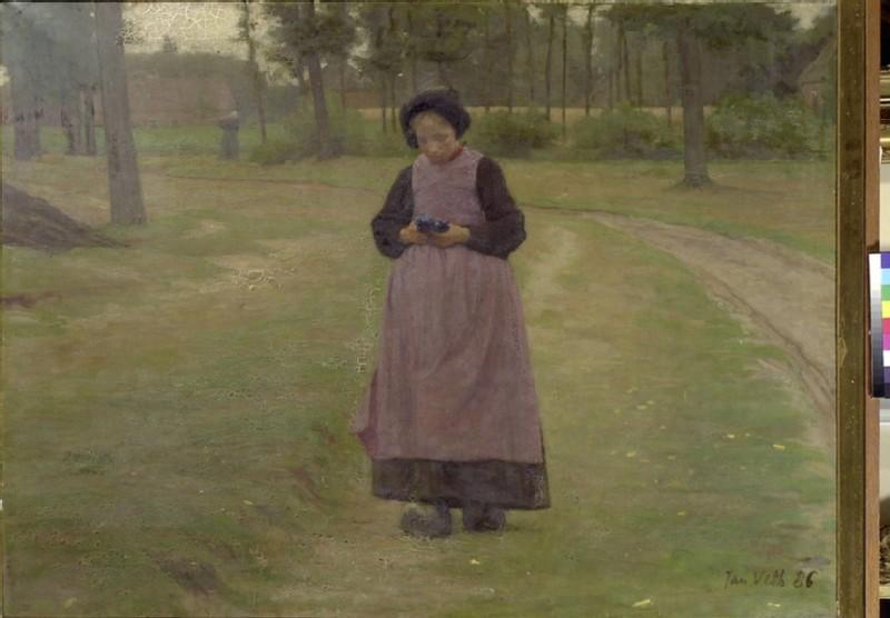 Girl from Laran with Cornflowers (WA1993.424)