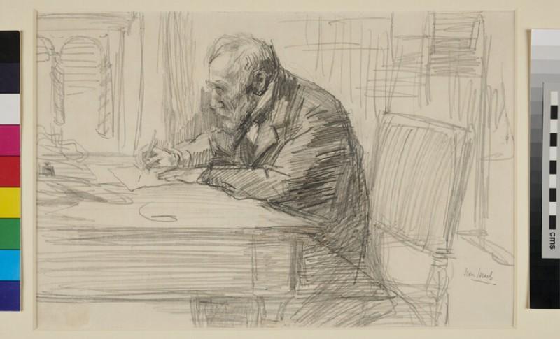 Portrait of Josef Israels (WA1993.431, recto)