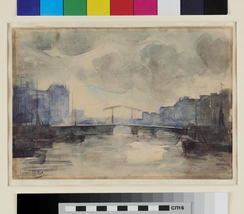 Harbour Scene with Bridge (WA1993.437, recto)