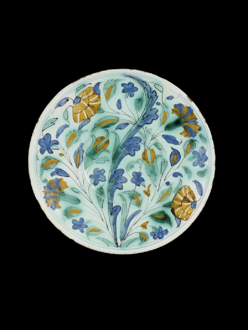 Plate in imitation of Iznik pottery