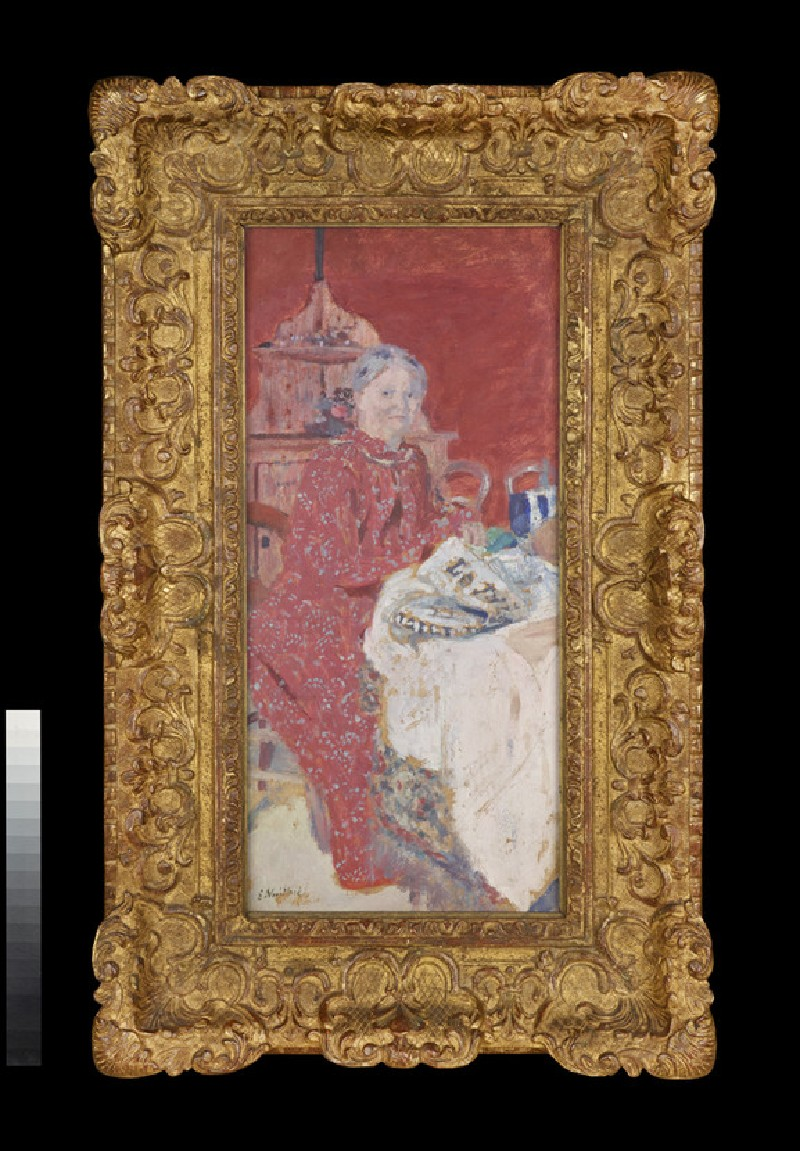 Mme Vuillard seated at a table